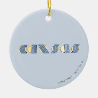 KANSAS (Blue and Gold) Ceramic Ornament