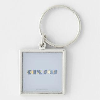 KANSAS (Blue and Gold) Keychain