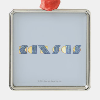 KANSAS (Blue and Gold) Metal Ornament