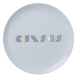 KANSAS (Blue and Gold) Plate