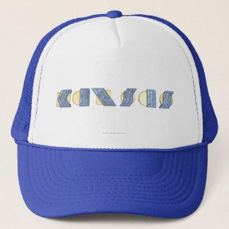 KANSAS (Blue and Gold) Trucker Hat