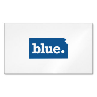 KANSAS BLUE STATE MAGNETIC BUSINESS CARD