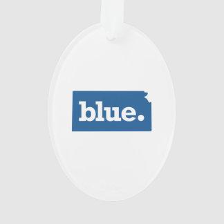 KANSAS BLUE STATE ORNAMENT