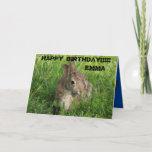 Kansas Bunny Rabbit closeup Greeting Card. Card