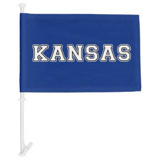 Kansas Car Flag