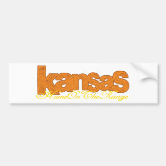 Kansas - casero en la gama pegatina para auto