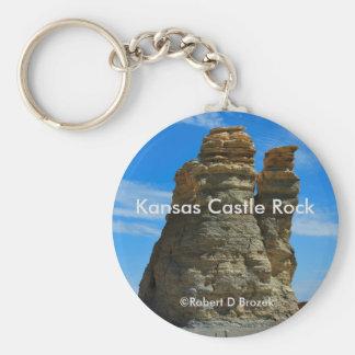 Kansas Castle Rock Key Chain