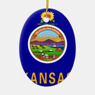 Kansas Ceramic Ornament