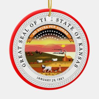 Kansas* Christmas Ornament