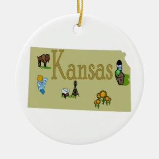 Kansas Christmas Tree Ornament