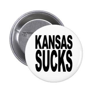 Kansas chupa pin redondo de 2 pulgadas
