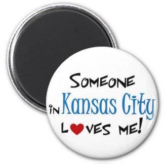 Kansas City 2 Inch Round Magnet