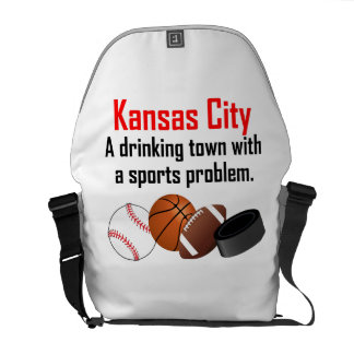 Kansas City A Drinking Town With A Sports Problem Courier Bag
