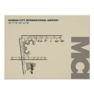 Kansas City Airport (MCI)  Diagram Poster