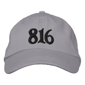 Kansas City Area Code 816( or use your area code) Embroidered Hat