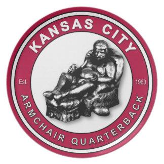 Kansas City Armchair Quarterback Plate