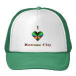 Kansas City -- Azulverde y anaranjado Gorros Bordados