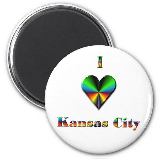 Kansas City -- Azulverde y anaranjado Imán