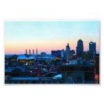 Kansas City céntrico en la puesta del sol Fotografía