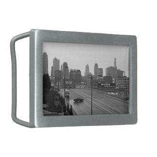Kansas City céntrico Hebillas Cinturon Rectangulares