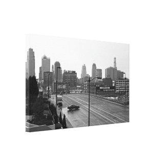Kansas City céntrico Lona Envuelta Para Galerias