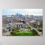 Kansas City céntrico, Missouri, horizonte Póster