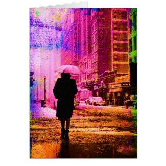 Kansas City, Colorful Grunge Digital Art Card