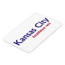 "Kansas City Established 3""x4"" Flexible Magnet"