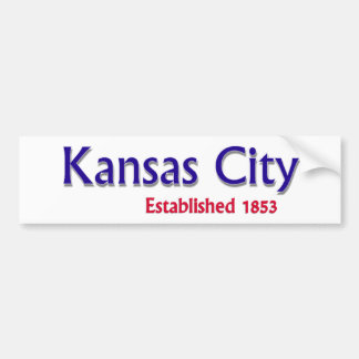 Kansas City Established Vehicle Bumper Sticker