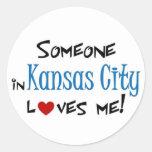 Kansas City Etiqueta Redonda