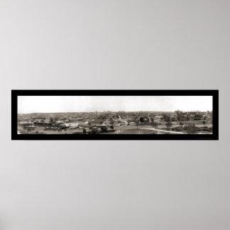 Kansas City, foto 1909 del MES Póster