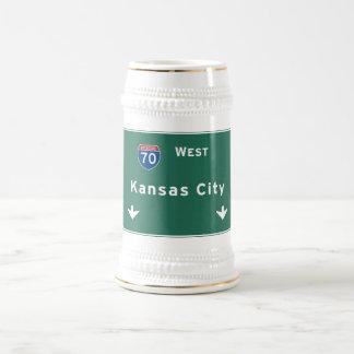 Kansas City KC Missouri Interstate Highway Freeway Beer Stein