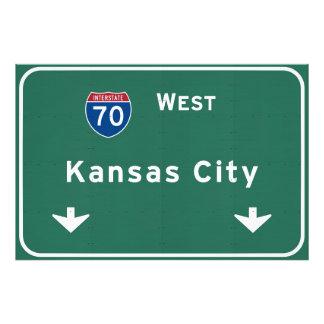 Kansas City KC Missouri Interstate Highway Freeway Photo Print