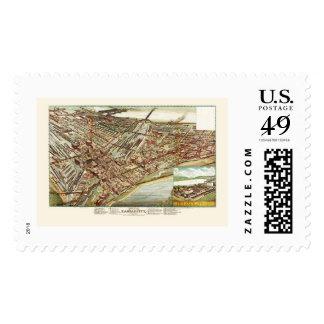 Kansas City, KS Panoramic Map - 1895 Postage