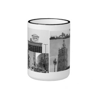 Kansas City Landmarks Ringer Coffee Mug