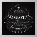 Kansas City Missouri - capital del Bbq del mundo Posters