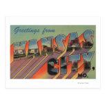 Kansas City, Missouri - escenas grandes de la Tarjetas Postales