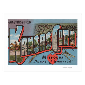 Kansas City, Missouri (Heart) Postcard