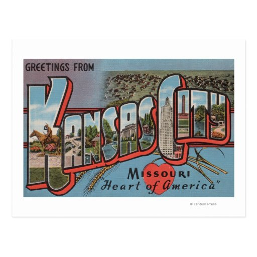 Kansas City, Missouri (Heart) Postcard