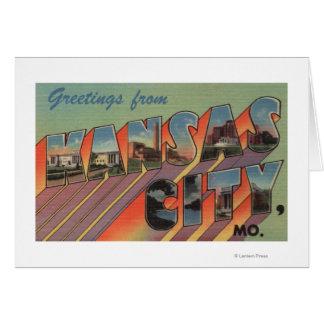 Kansas City Missouri - Large Letter Scenes Card