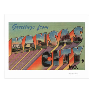 Kansas City, Missouri - Large Letter Scenes Postcard