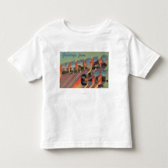 Kansas City, Missouri - Large Letter Scenes Toddler T-shirt