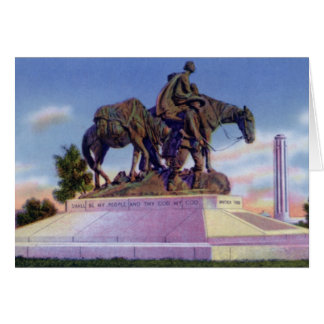 Kansas City Missouri Pioneer Mother Statute Card