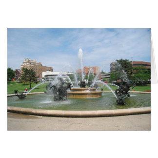 Kansas City, Missouri Plaza Fountain Card