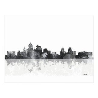 KANSAS CITY, MISSOURI SKYLINE POSTCARD