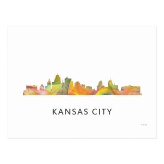 KANSAS CITY, MISSOURI SKYLINE WB1 - POSTCARD