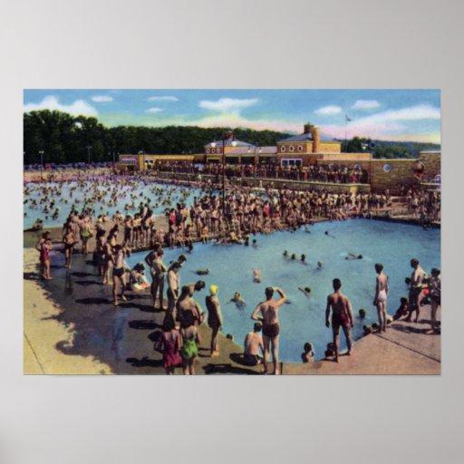 Kansas City Missouri Swope Park Swimming Pool Poster Zazzle