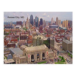 Kansas City, MO Skyline Memorial Liberty Area Postcard