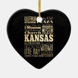 Kansas City of Missouri State Typography Art Ornaments
