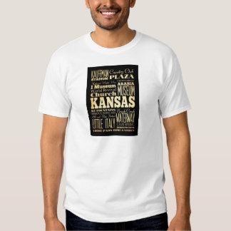 Kansas City of Missouri State Typography Art T Shirt